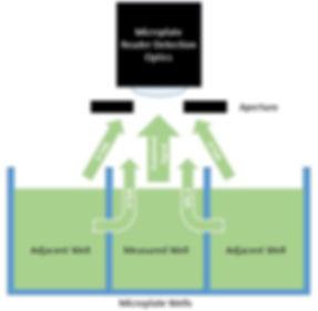 Microplate reader luminescence crosstalk
