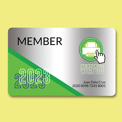 Membership Card Layout by Small Piece of Paper, Manila, Makati City, Taguig City, Ortigas, Pasig City