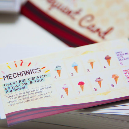 Promo cards in the Philippines by Small Piece of Paper, Manila, Makati City, Taguig City, Ortigas, Pasig City