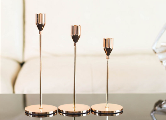 Brass Candlestick Holders Metal Taper Candle Holders Fit 3/4 Inch Taper Candle