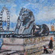 Cleopatra's Sphinx Being Admired