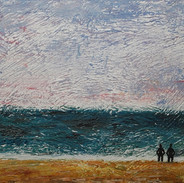 Two Figures Staring Out to Sea