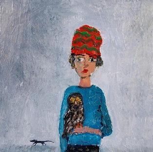 Urban Lady with Owl