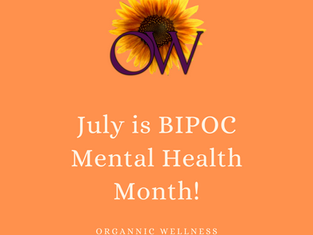 July is BIPOC Mental Health Month