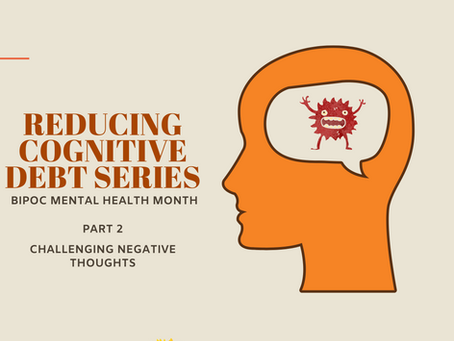 Reducing Cognitive Debt Series Part 2 - Challenging Negative Thoughts