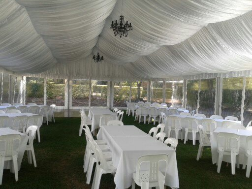 Silk, Dance Floor,Trestle Tables