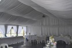 Wedding marquee setup