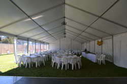 9m x 30m round tables and chairs