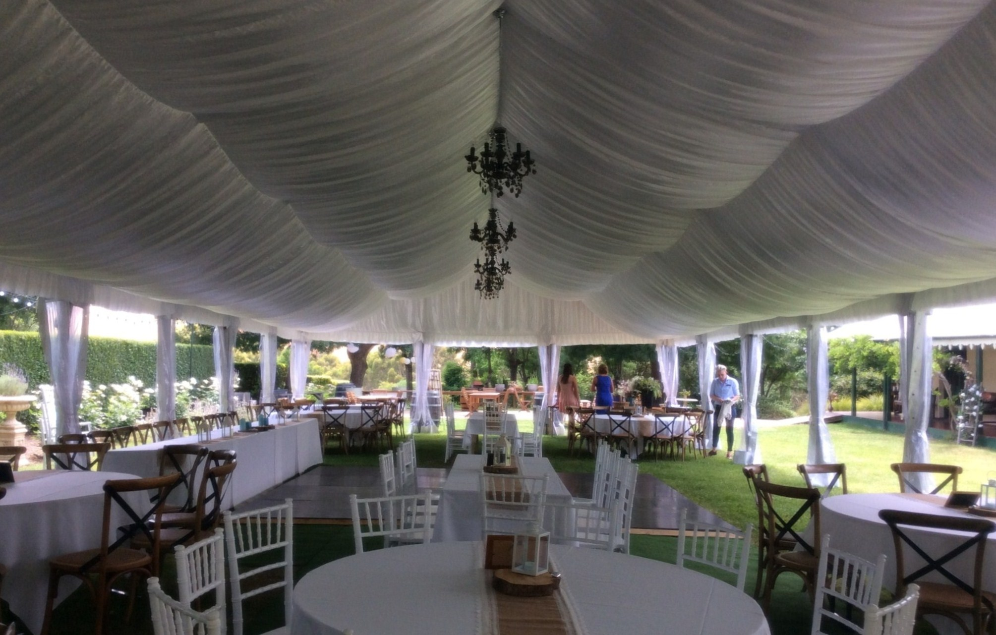 9m marquee Silk Lining
