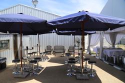 Umbrellas Bar Tables and Stools
