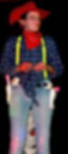Aurélie Provost en tenue de Billy le Cow-boy