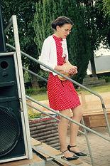 Aurélie Provost descend les ecaliers de la scène