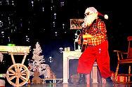 Père Noël Rock'n roll. Machineà bulles.