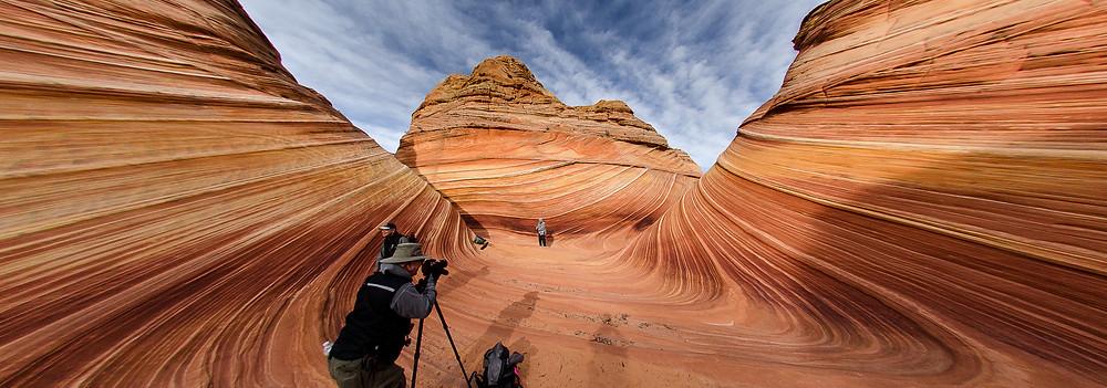 Photographers at The Wave, Arizona