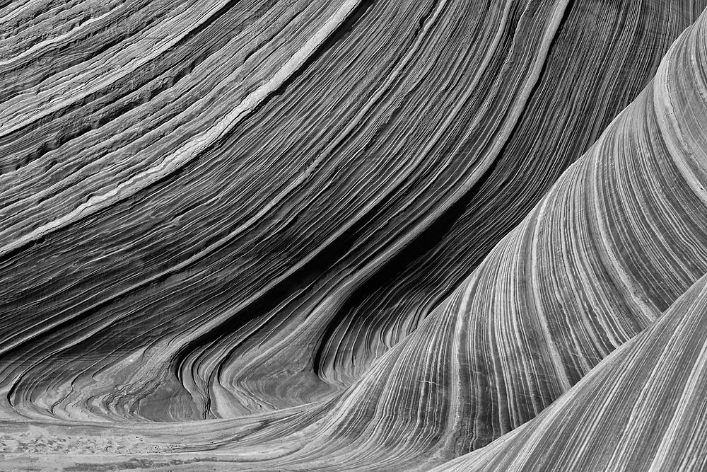 Black and White Wave, Arizona, Justin Hofman