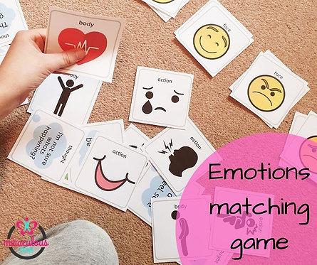 Emotions matching game