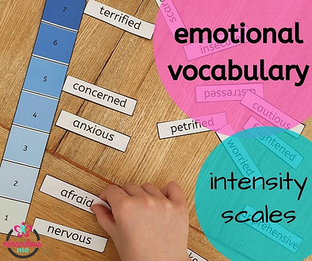 Emotional vocabulary intensity scale
