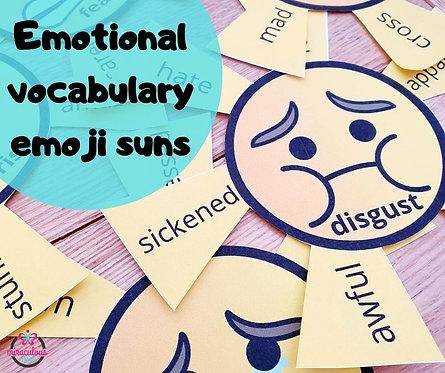 Emotional vocabulary emoji suns