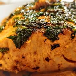 Salmón al meuniere de cilantro. _Delicias de nuestro Restaurant