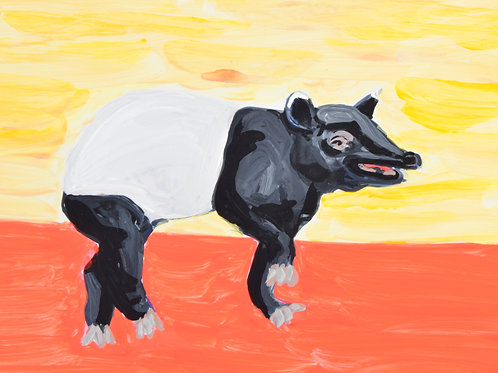 """Happy Little Malayan Tapir"" PRINT"