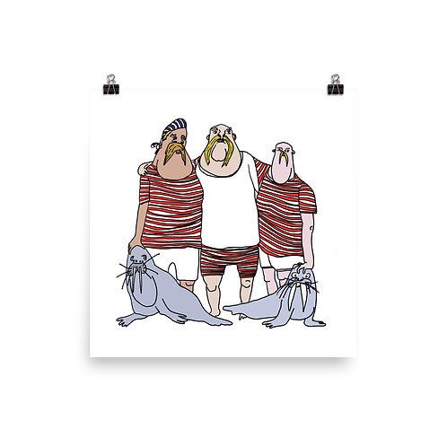 Walrus Men (12 x 12)
