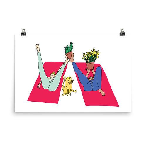 "Yoga Plants (36"" x 24"")"