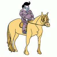 Drooling Elvis Gang - Horseback Elvis