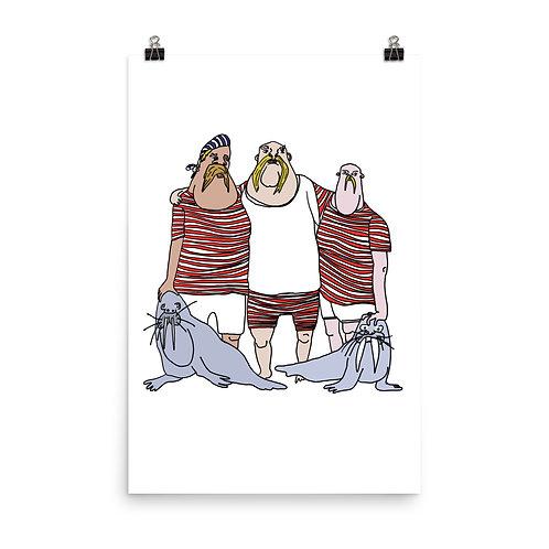 """Walrus Men (24"""" x 36"""")"""