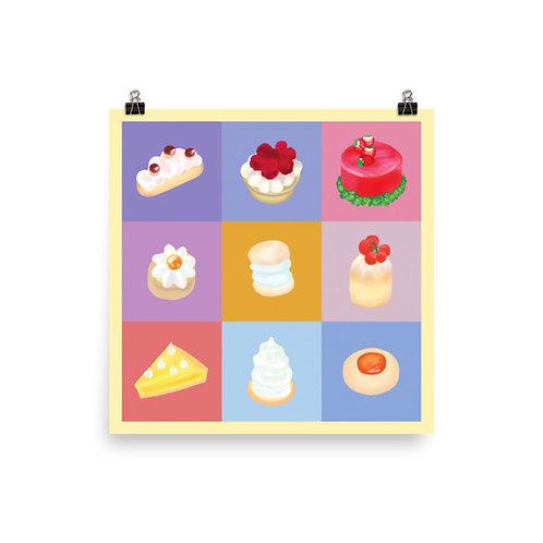 "Juicy Pastries (12x12"" or 14x14"")"