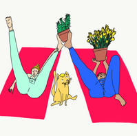 Home Yoga with Plants