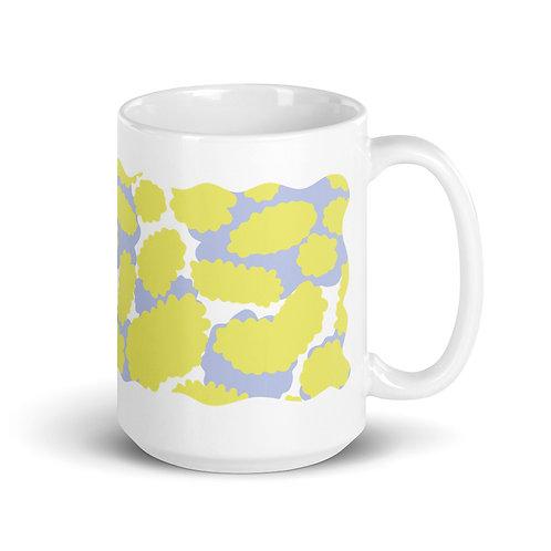 Yellow Blob Pattern Mug