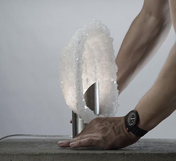 Lampe en sel design Alumine Salt Lamp Thomas Carlier écodesign design durable