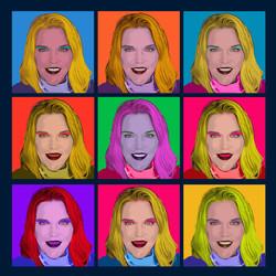 Andy Warhol Pop Art style