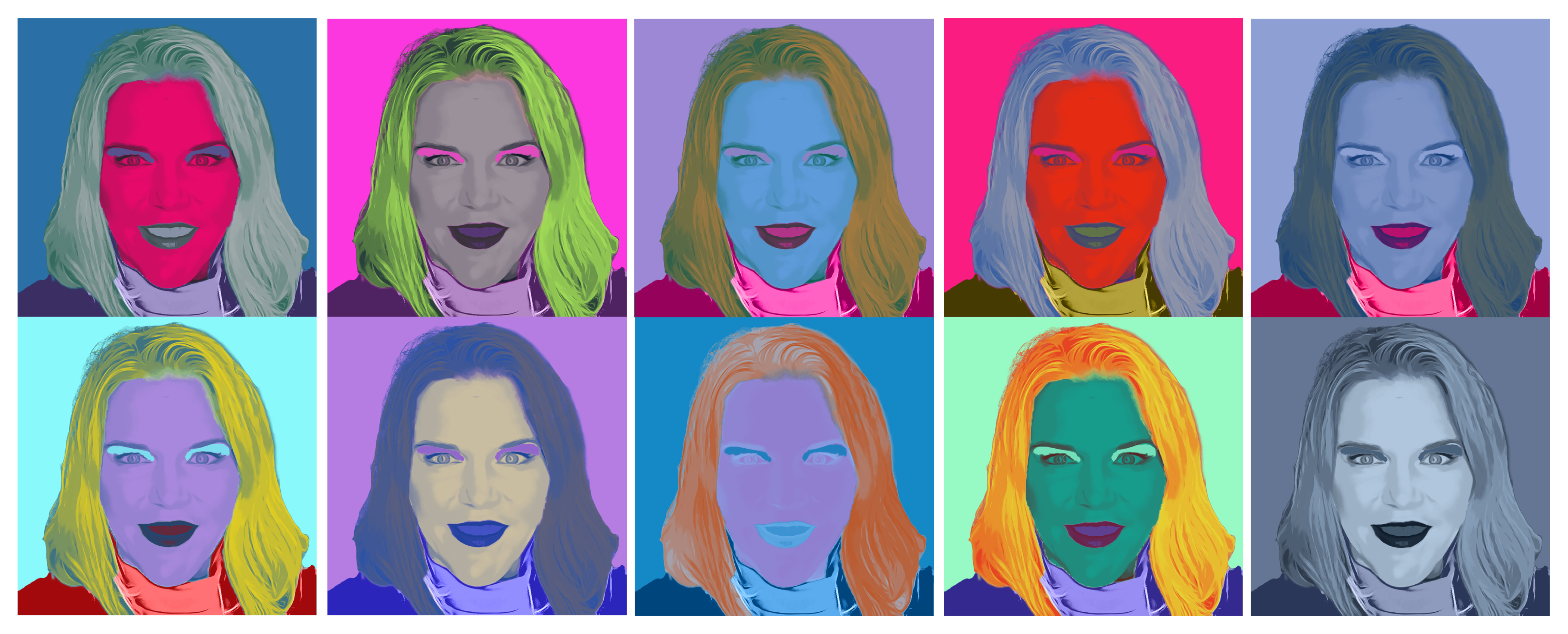 Andy Warhol Pop Art style