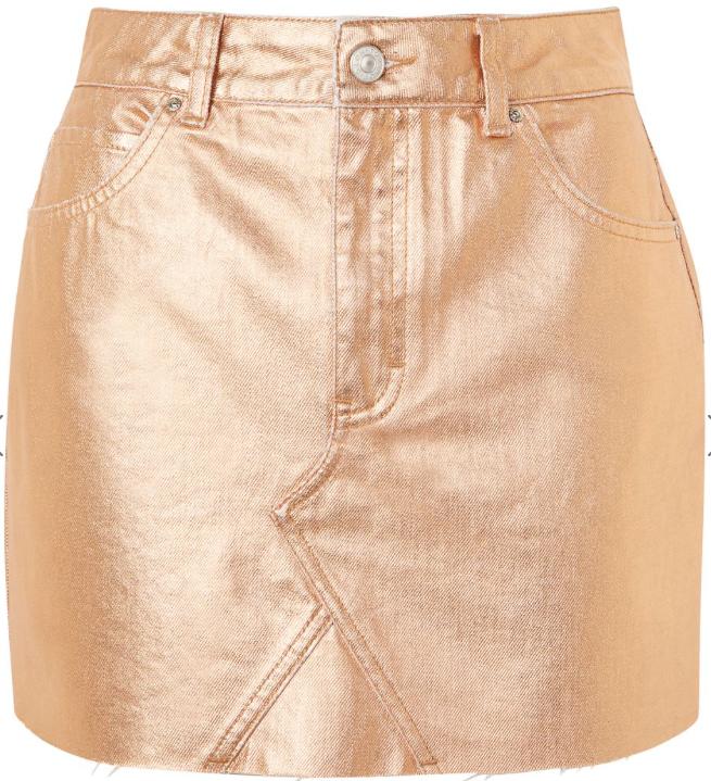 Topshope Denim Rose Gold Skirt