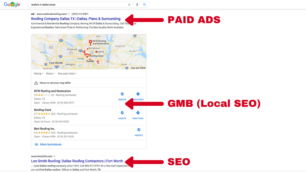 The difference between SEO vs Paid advertising for contractors