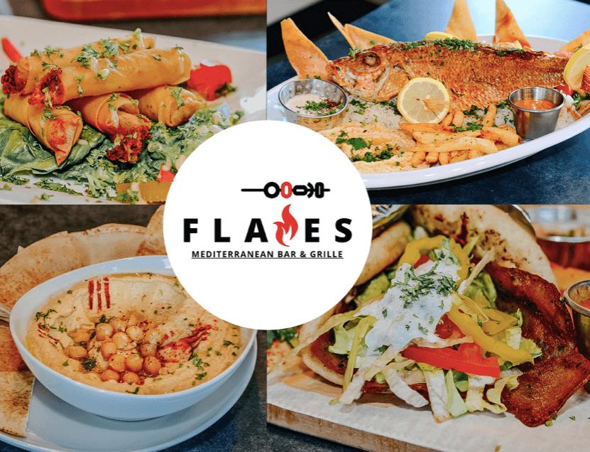 Lots of Mediterranean cuisine at Flames
