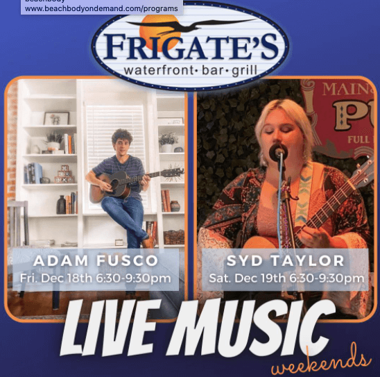 Live Music lineup at Frigates in EGAD