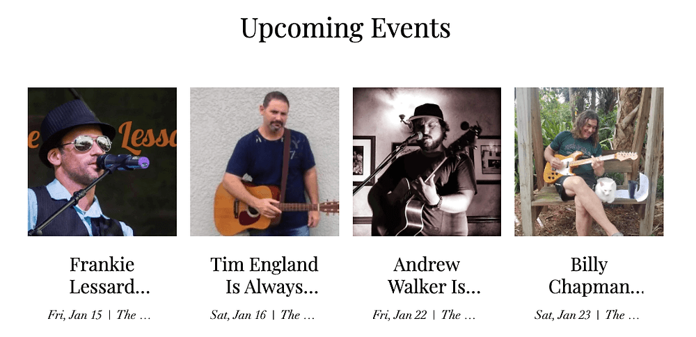 Lots of live music on the calendar at Crafty Crane.