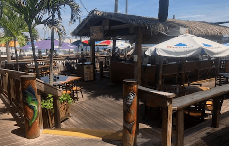 The tiki deck at Grills for Cape Canaveral nightlife