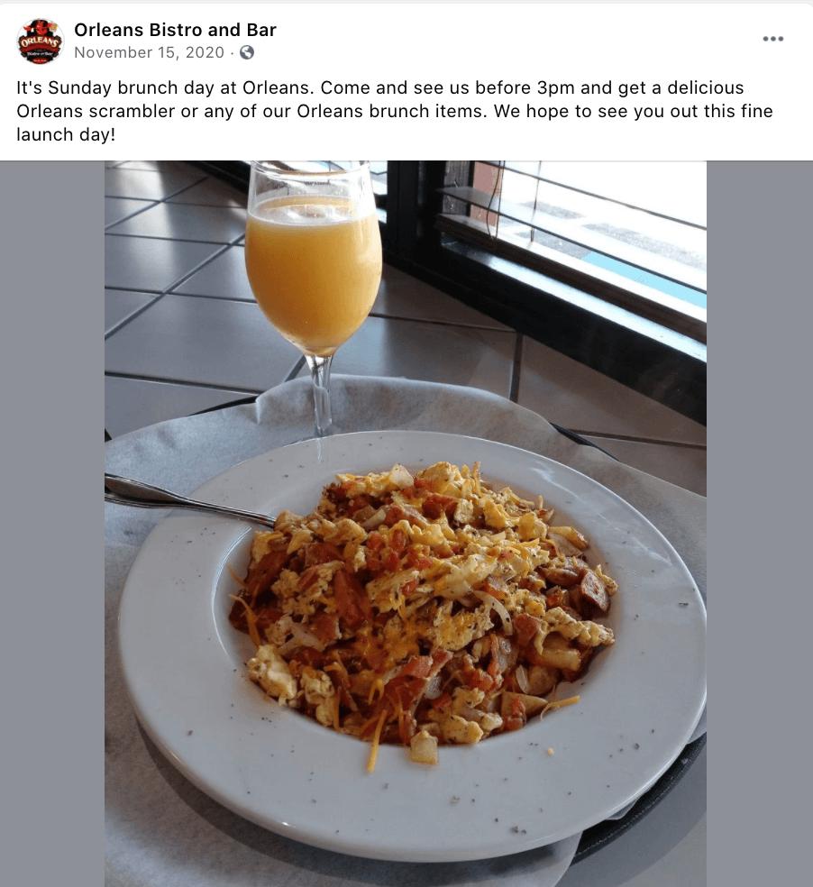 Orleans Scrambler for brunch