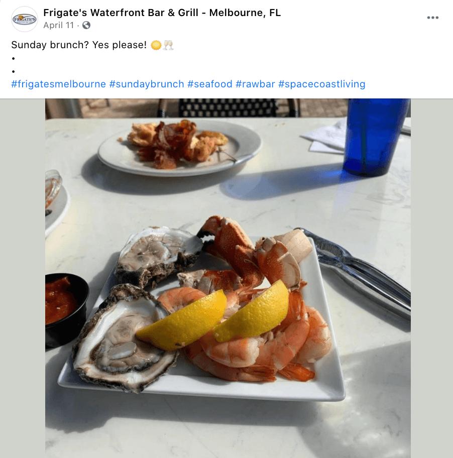 Waterfront seafood brunch restaurant: Frigates!