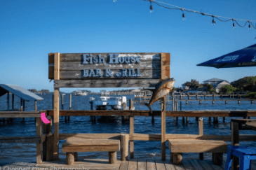 The Old Fish House, a seafood restaurant with a killer view in Grant, FL.