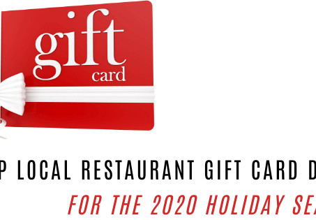 Check out these local restaurant gift card deals for this year's 2020 holiday season!