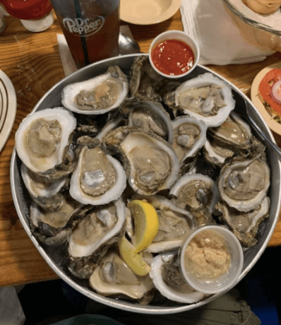 Oysters at Molly's Seafood Shack In Merritt Island
