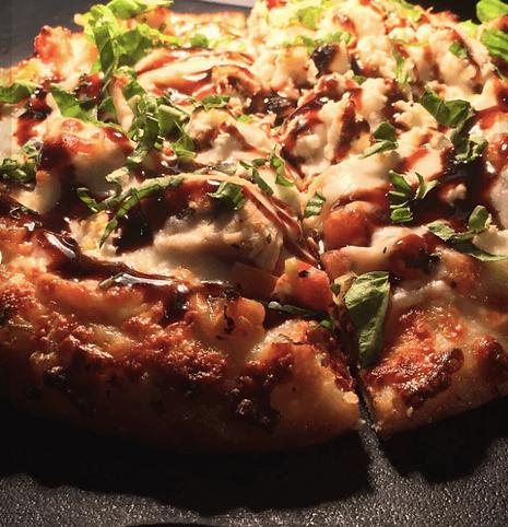 chicken bruschetta pizza at pizza galler