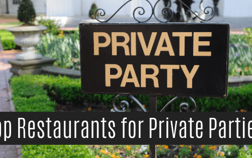 Restaurants with private rooms to throw your perfect party!