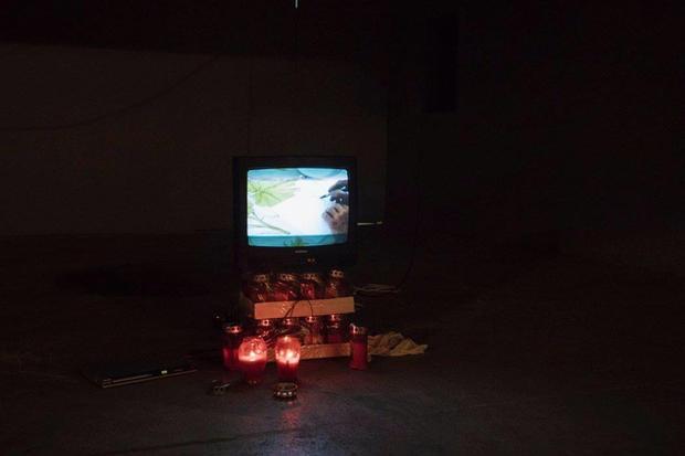 'Merry Gathering' video installation, Hladilnica, Maribor, Slovenia. 2017