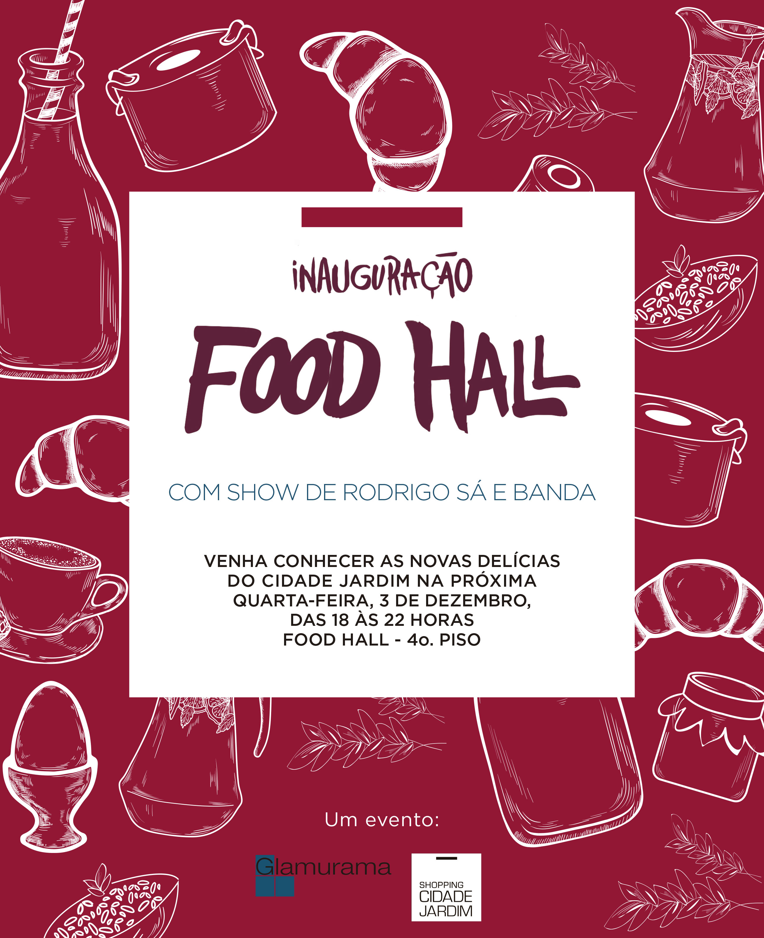 Flyer Food Hall Shoping Cid. Jardim