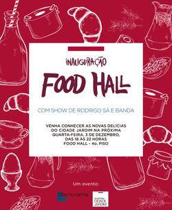 Flyer Food Hall Shoping Cid. Jardim